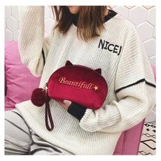 韓國化妝包網紅同款小號多功能大容量隨身手拿旅行便攜簡約收納袋 快速出貨