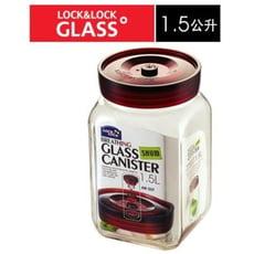 樂扣單向排氣閥玻璃密封罐-1.5L-LLG-552