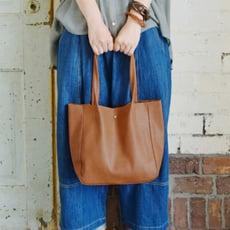 日本復古皮革迷你手提包托特包單肩包