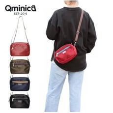 斜背包 Qminica微光澤輕便尼龍側背包 NO.QM025