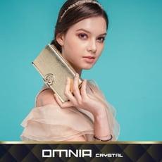 韓國OMNIA克里絲真皮女用長夾 NO.3077A