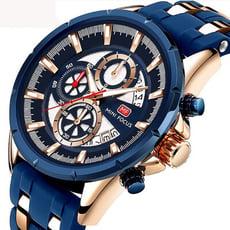 【美國熊】國民男錶 大錶徑 運動賽車風格 男士真三眼計時 日期窗顯示 腕錶 [FOC-273]