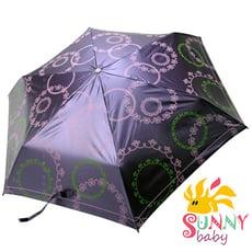 【Sunnybaby生活館】抗UV三收一變色傘-幸福花園-風鈴小王子(紫色)