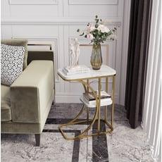 邊幾 邊桌 方桌 休閒桌 置物架 北歐角幾 輕奢茶幾 小戶型 客廳方形沙發邊櫃大理石邊幾臥室床頭桌子