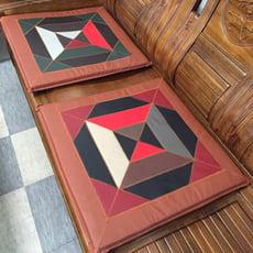 台灣製造半牛皮革彩色座墊/木椅座墊/實木椅墊/和式坐墊/打禪墊
