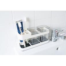 衛浴用品 簡約時尚美觀雙人洗漱口杯牙刷架/牙刷座