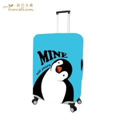 [Travelism-童趣系列] #南丁格鵝# L號26-29吋 行李箱套旅行箱登機箱防塵套創意箱套
