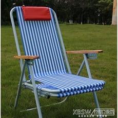尼龍沙灘椅折疊椅躺椅睡椅午休折疊椅紅鑽王躺椅休閒椅靠椅睡椅子CY-