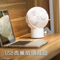 球形香薰空氣循環風扇 USB電風扇 桌扇 涼風扇 擴香 兩段調速 (7吋)