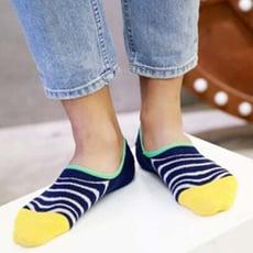韓系條紋素色男船型短襪