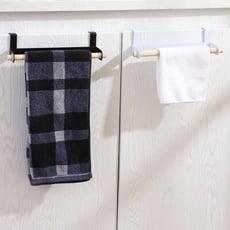日系簡約風廚房實木抹布毛巾櫥櫃掛架