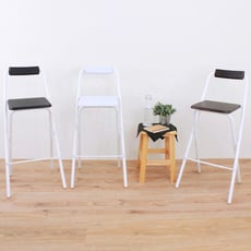 【愛家】高腳折疊椅/吧台椅/高腳椅/櫃台椅/餐椅/洽談椅(三色可選)