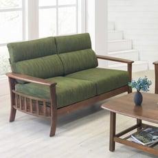 !新生活家具! 《朝氣》可拆洗 全實木 二人位沙發 木扶手 日式 雙人座 雙人沙發 布沙發 木製沙發