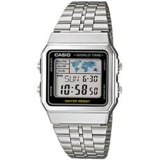 CASIO 復古方塊世界休閒電子錶-黑框(A500WA-1D)