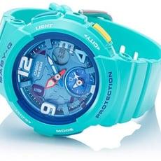 BABY-G 愛旅行的女孩數位雙顯錶-海水綠(BGA-190-3B)