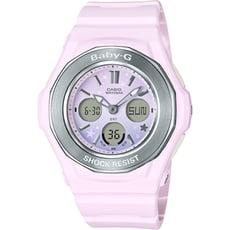 BABY-G 漸層夢幻星星圖騰數位電子錶-粉紅(BGA-100ST-4A)