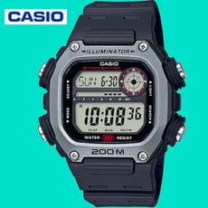 CASIO卡西歐 運動達人數位電子錶-黑X銀框(DW-291H-1A)