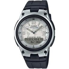 CASIO 都會個性地圖紋雙顯腕錶(膠帶/白面)_AW-80-7A2
