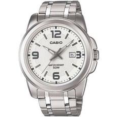 【CASIO】品味城市優雅紳士錶-白(MTP-1314D-7A)