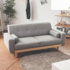 木作簡約2.5人座沙發/雙人沙發/沙發床/兩人座/5色/Y0010
