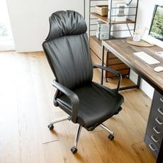 伸縮腳靠皮革辦公椅/電腦椅/書桌椅/主管椅/工作椅/I0318