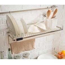 壁掛碗盤瀝水置物架/瀝水盤/餐具收納/鍋蓋架/房收納/碗盤架/D0094