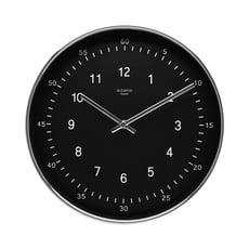 素面黑底鋁質框壁鐘/時鐘/掛鐘/TWOTONE/R0018