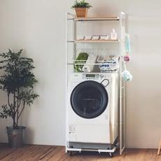 多功能伸縮洗衣機架/置物架/衣服/收納/洗衣機台座/衛浴置物架/2色/X0030