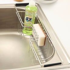 水槽側邊掛籃/洗碗精架/菜瓜布架/流理台/碗盤架/廚房收納/D0014