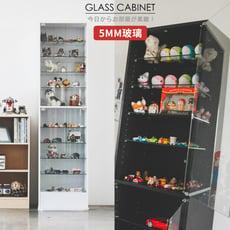 華倫180cm玻璃展示櫃/收納櫃/玻璃櫃酒櫃/二色/R0059