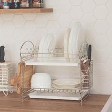碗盤架/多功能/不鏽鋼/雙層/廚房收納/D0045
