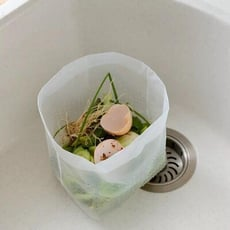 【水槽一次性過濾隔渣袋】剩菜飯瀝水袋 30入/包 廚房自立式垃圾袋 廚房垃圾袋 家用水池水槽過濾 濾