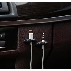 便利束線夾 8粒裝 耳線排線夾 整理夾 固線夾扣 收線器 捲線夾多用途汽車用品