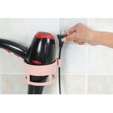 【無痕吹風機架】帶插頭位衛生間置物架廁所免打孔吹風機掛架壁掛收納架