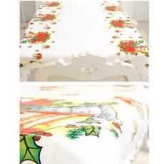 【聖誕防水桌巾】一次性桌布裝飾品卡通pvc聖誕桌布聖誕節裝飾用品桌布a