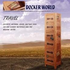 [客尊屋]典尚古風/Docker World- CD/DVD 6 DraWers 六抽高櫃/書架/置