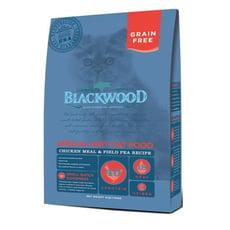 【BLACKWOOD柏萊富】特調無穀全齡貓配方(雞肉+碗豆)貓飼料/乾糧-4LB(1.82kg)