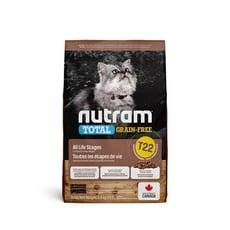 【 NUTRAM 紐頓】無穀全能系列  T22 潔牙 火雞 貓糧 -5.4KG