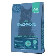 【BLACKWOOD柏萊富】特調無穀全齡貓配方(鴨肉+鮭魚+碗豆)貓飼料/乾糧-4LB(1.82kg