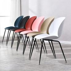 塑料靠背 田園居家餐椅 休閒椅 戶外椅 會客椅(六色可選)