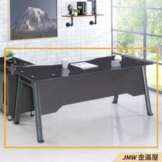 180cm辦公電腦桌L型【金滿屋】工業風工作桌 書櫃型書桌 主管桌-R231-2 -