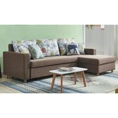 250cm右功能l型布沙發-e338-7 l型沙發 貓抓皮 布沙發 沙發床 沙發椅 【金滿屋】