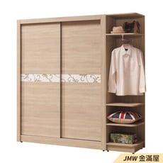 【金滿屋】 149cm衣櫃 木心板耐用衣櫃 推門衣櫃 滑門衣櫃-C043-2