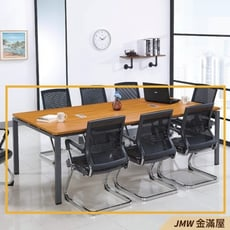 240cm會議桌 辦公電腦桌L型【金滿屋】工業風工作桌 主管桌-R250-1 -