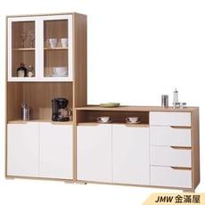 收納櫃【金滿屋】2.7尺餐櫃 北歐 白色餐櫃 廚房碗盤收納櫃 電器櫃-B387-03-121cm餐櫃