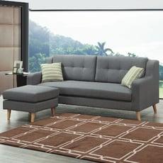 210cml型布沙發-e334-2 l型沙發 貓抓皮 布沙發 沙發床 沙發椅 【金滿屋】
