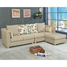 272cml型布沙發-c648-2 l型沙發 貓抓皮 布沙發 沙發床 沙發椅 【金滿屋】