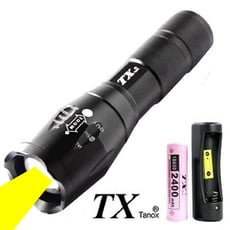 TX特林XML- T6 LED黃光伸縮變焦手電筒(T-YW-T6)