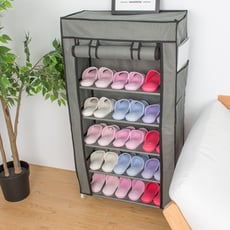 六層DIY組合防塵鞋架鞋櫃