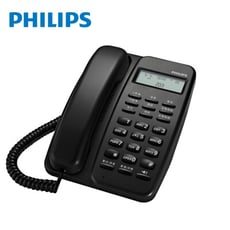 【PHILIPS 飛利浦】來電顯示有線電話 M10(黑/白二色)